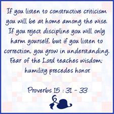 Proverbs 15:31-33